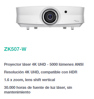 proyector optoma zk507w